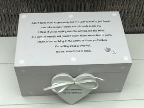 Personalised LARGE Memory Box ~ GRANDAD ~ Any Name ~ Bereavement In Memory Of - 232685718262